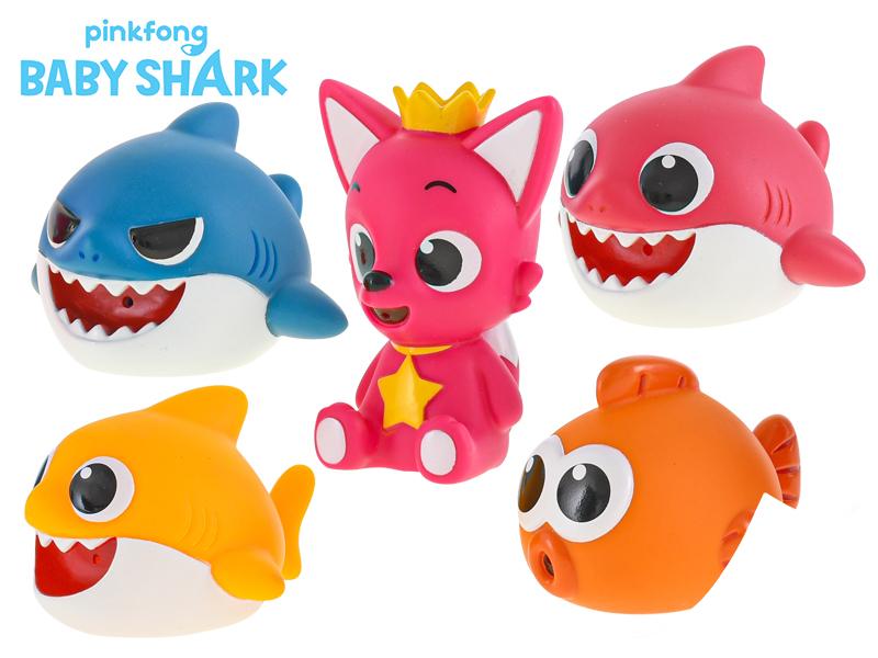 Baby Shark zvířátka stříkací do vany 8 cm - mix variant či barev