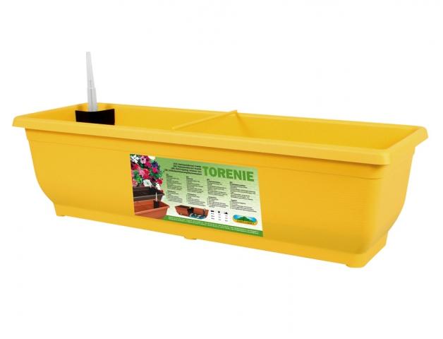 Truhlík samozavlažovací TORENIE plastový žlutý 50cm