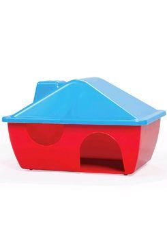 Domek pro hlodavce plastový s tvarovanou střechou A009