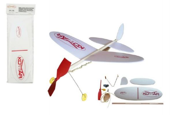 Letadlo Komár házecí model na gumu polystyren/dřevo 38x31cm