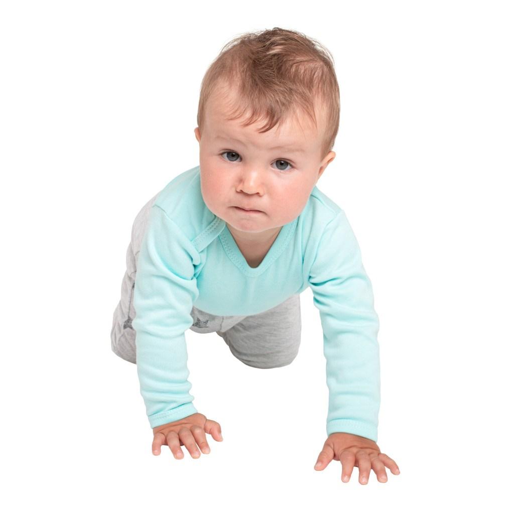 Kojenecké celorozepínací body New Baby Classic II mátové - 56 (0-3m)