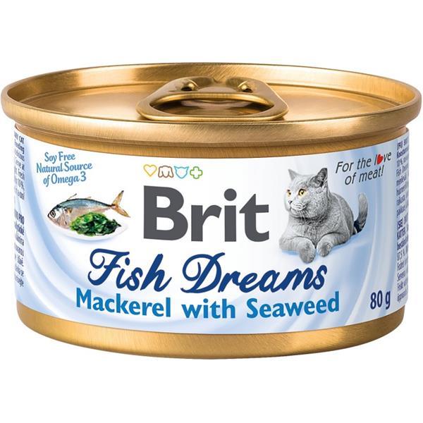 Brit Cat konz Brit Fish Dreams Mackerel & Seaweed 80g