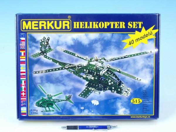 Stavebnice MERKUR Helikopter Set 40 modelů