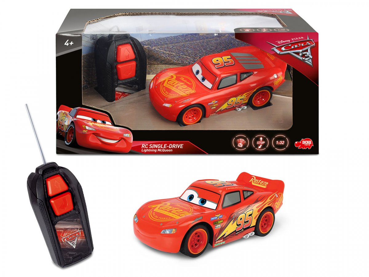 Dickie RC Cars 3 Blesk McQueen 1:32,1kan