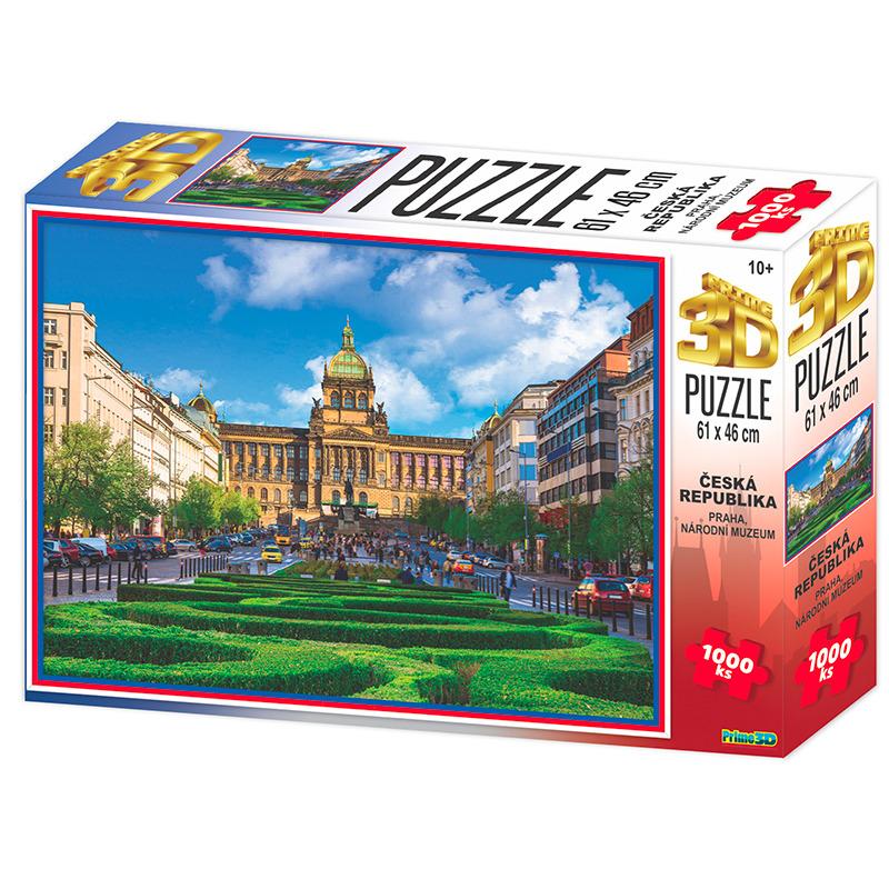 Puzzle 3D Praha Národní muzeum 1000 dílků