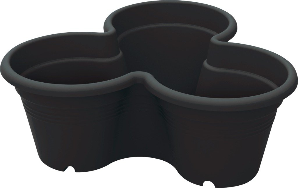 Elho květináč Green Basics Vertical garden - living black 46cm