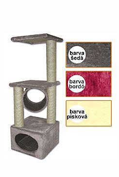 Škrábadlo Traviata šedé 35x35x109 cm