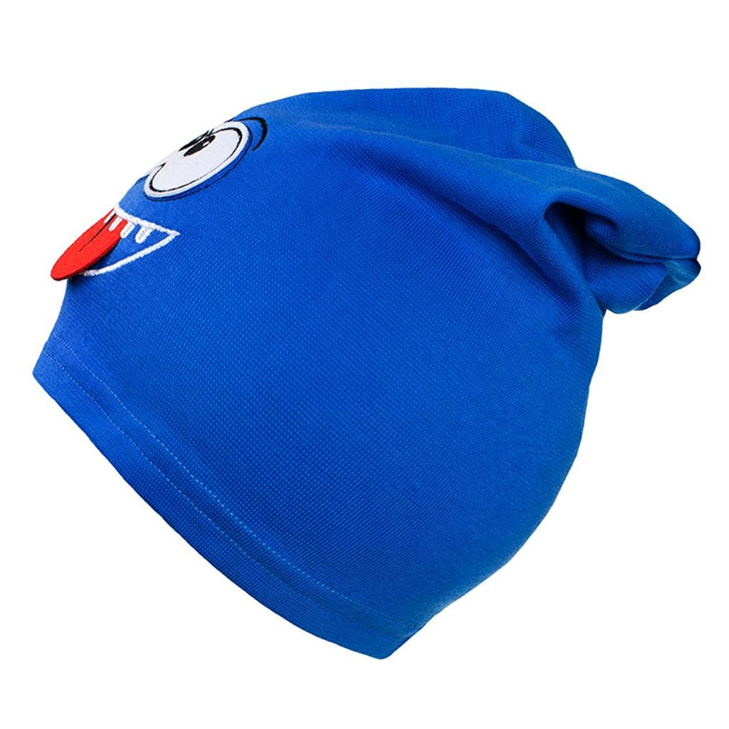 Podzimní dětská čepička New Baby smíšek modrá - 110 (4-5r)