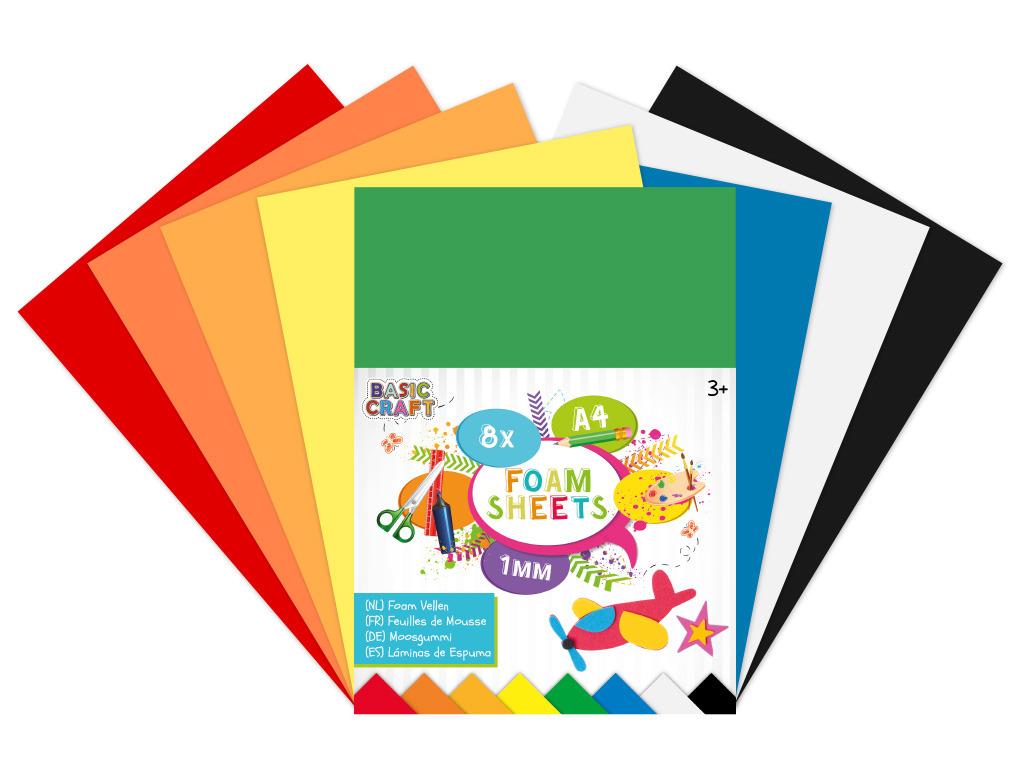 Sada barevných papírů pěnnové A4