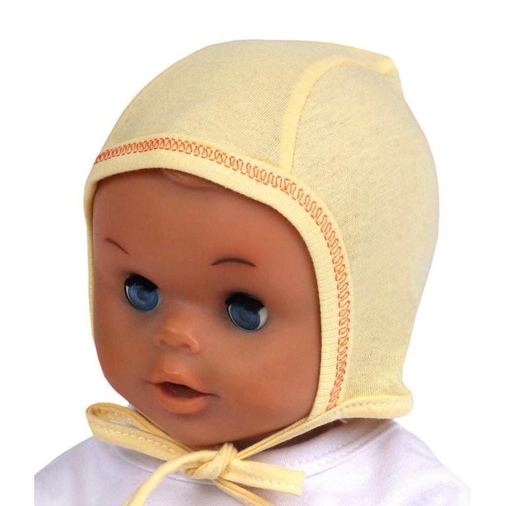 Kojenecká čepička New Baby žlutá - 56 (0-3m)