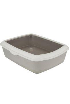 WC kočka s rámem Classic 47x37x15cm TR tm.šedá