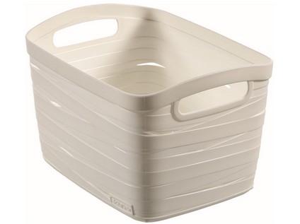 košík RIBBON 27,5x20,5x17,5cm (S) plastový, BÍ