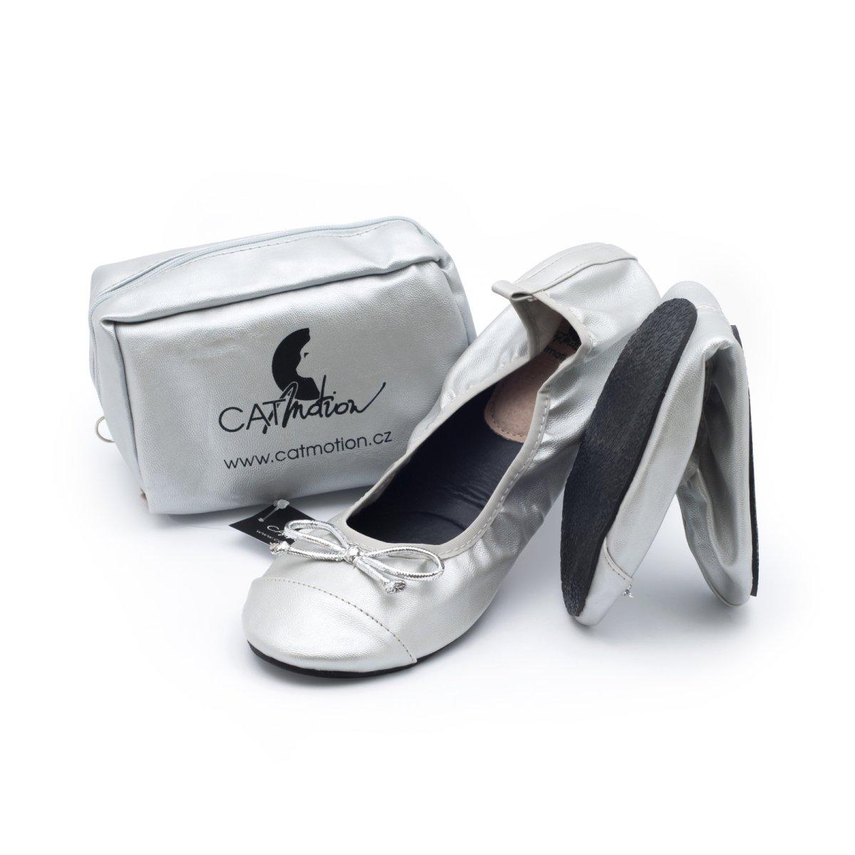 CatMotion Skládací baleríny do kabelky Cinderella Velikost S (36, 37), 24 cm