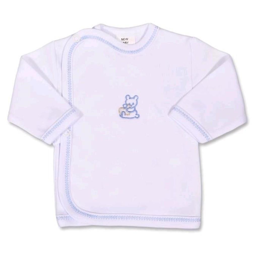 Kojenecká košilka s vyšívaným obrázkem New Baby modrá - 50