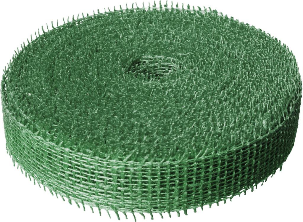 Jutová stuha 4 cm x 25 m - tmavě zelená