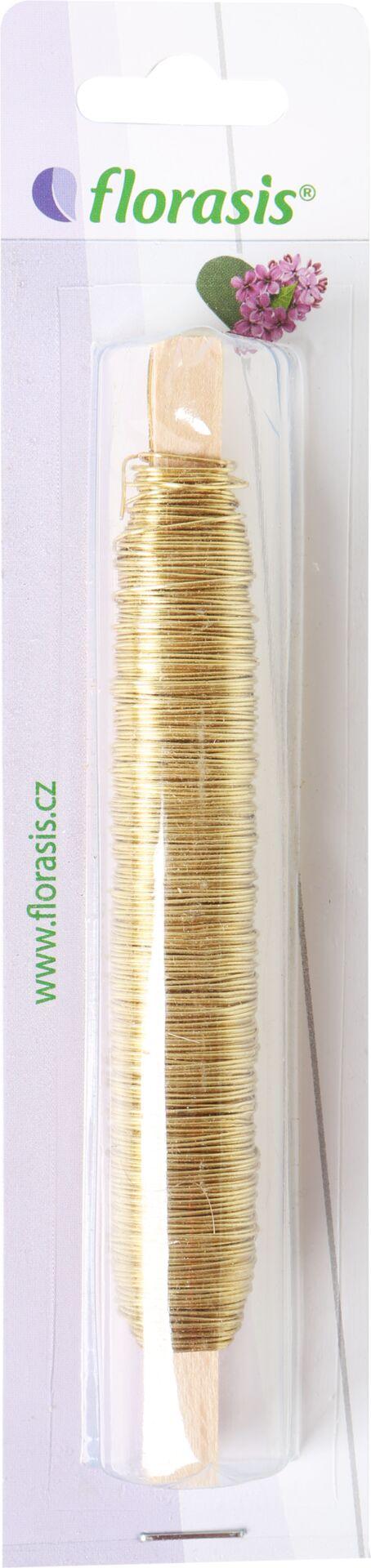 Drát měděný - 0,5 mm x 100 g zlatý