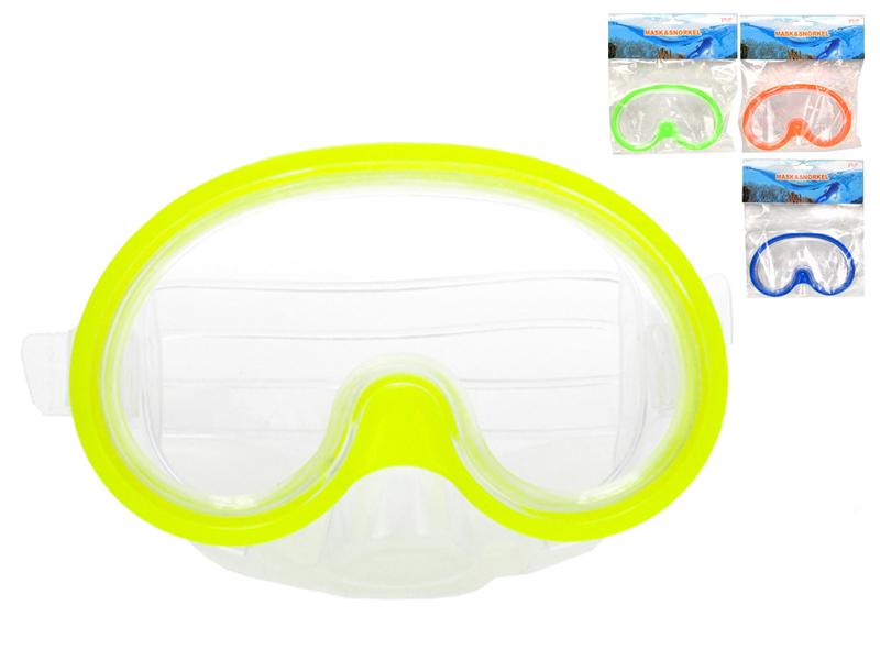 Potápěčské brýle 15 cm - mix barev (žlutá, modrá, orange, zelená)