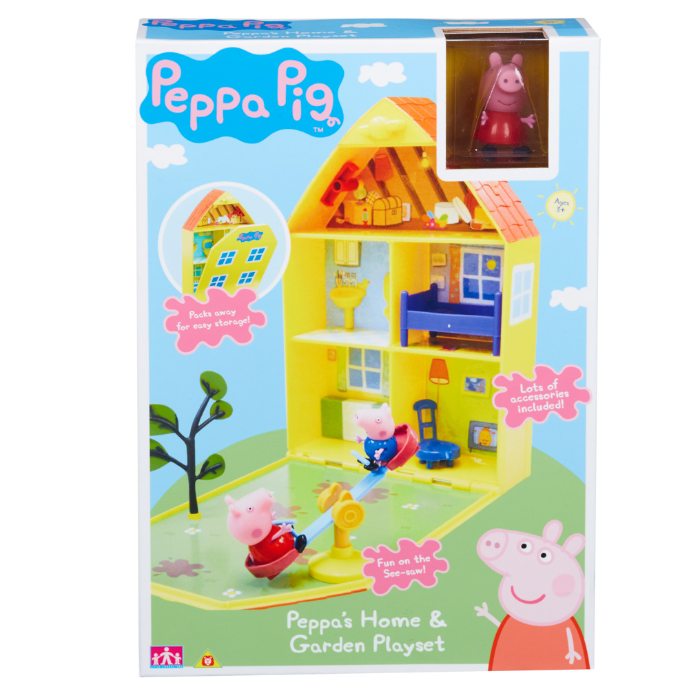 PEPPA PIG - domeček se zahrádkou + figurka a příslušenstvím