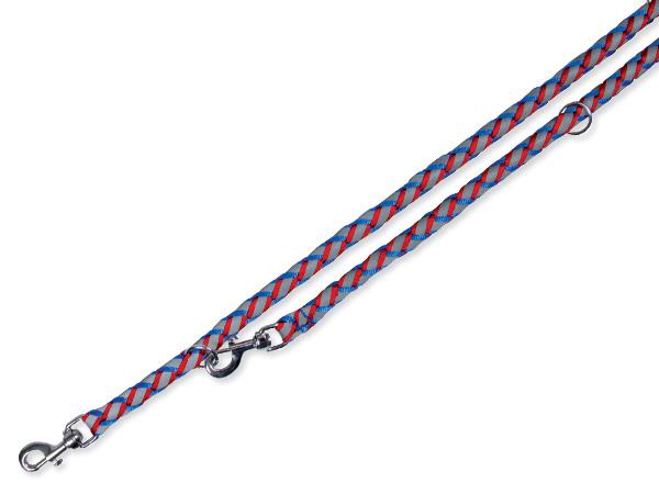 Vodítko TRIXIE reflexní modro-červené S-M (1ks)