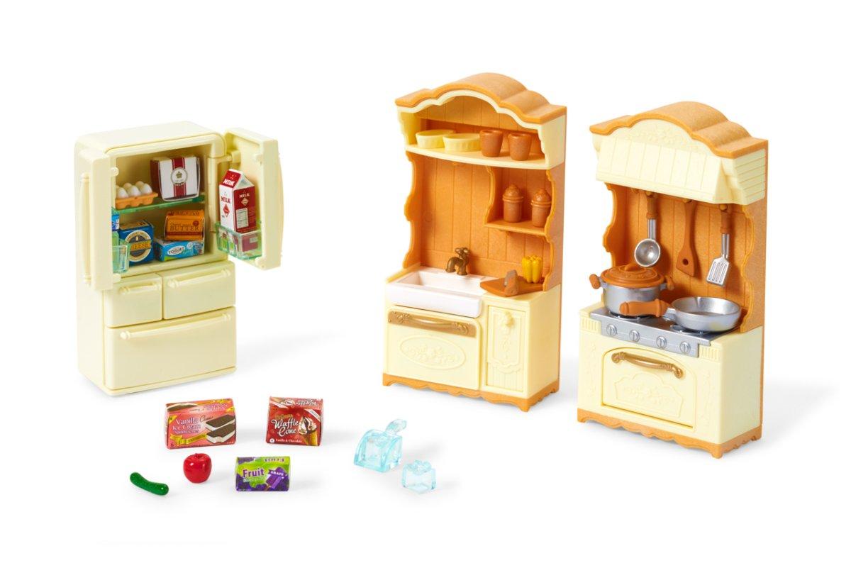 set - kuchyňská linka s ledničkou
