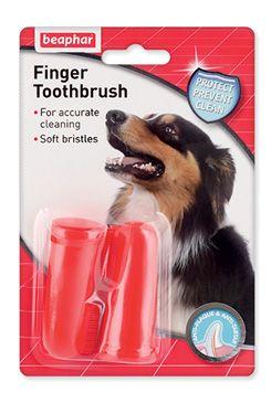 Zubní kartáčky BEAPHAR Dog-A-Dent na prst (2ks)
