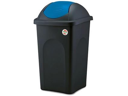 koš odpadkový výklopný MULTIPAT 60l čtvercový ČER/MO plastové víko