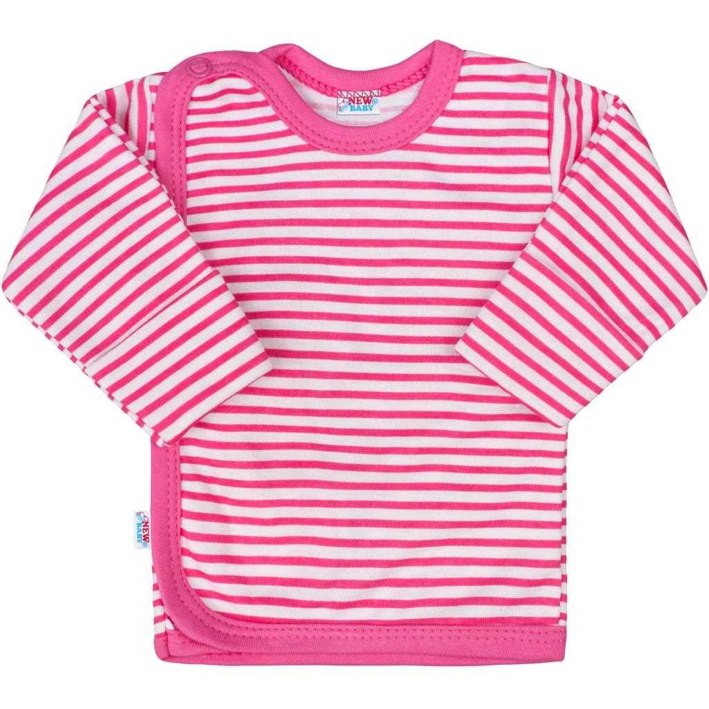 Kojenecká košilka New Baby Classic II s růžovými pruhy - 56 (0-3m)