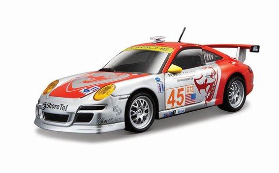Bburago 1:24 Race Porsche 911 GT3 RSR Silver/Red