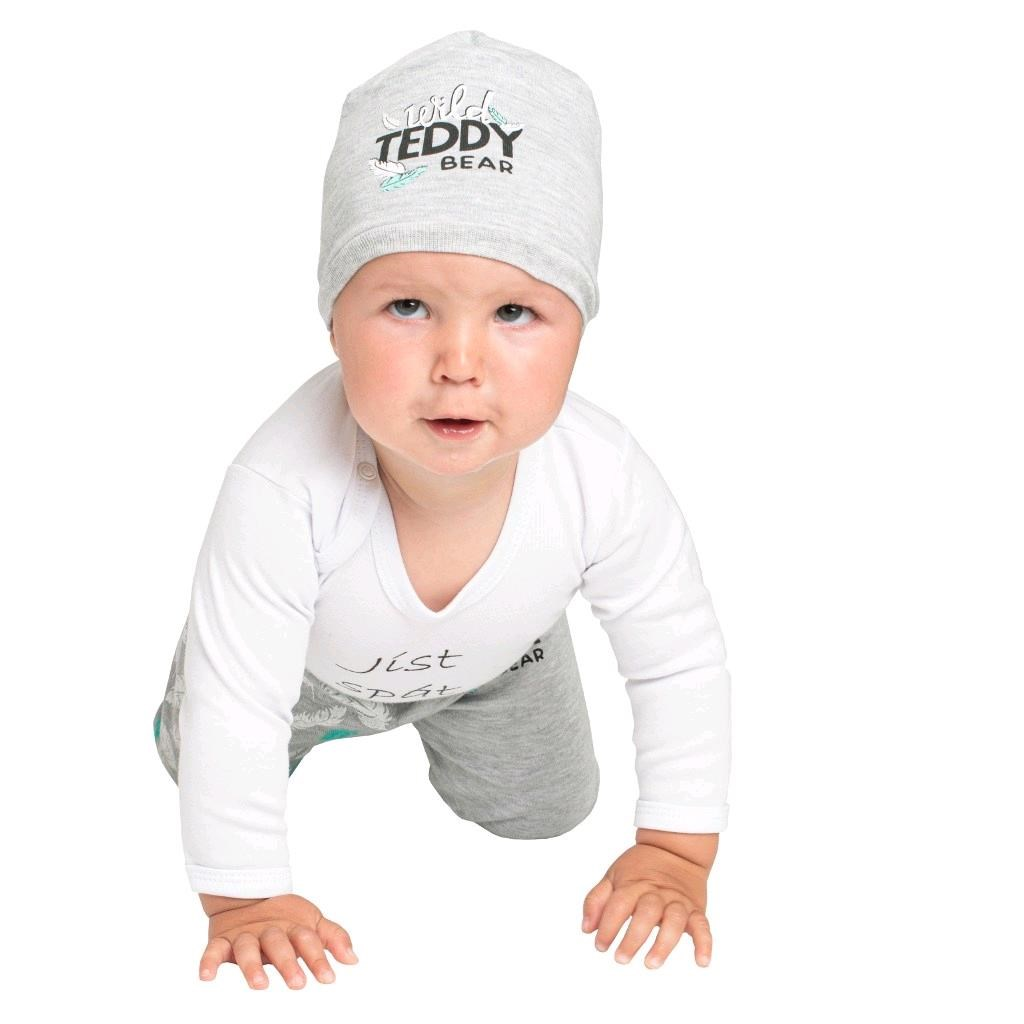 Kojenecké bavlněné tepláčky New Baby Wild Teddy - 62 (3-6m)