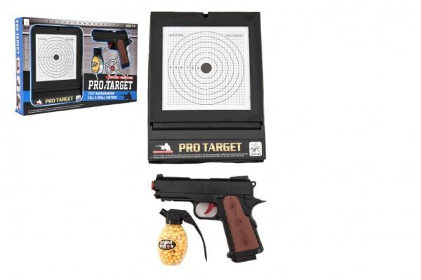 Pistole plast na kuličky 6mm s terčem