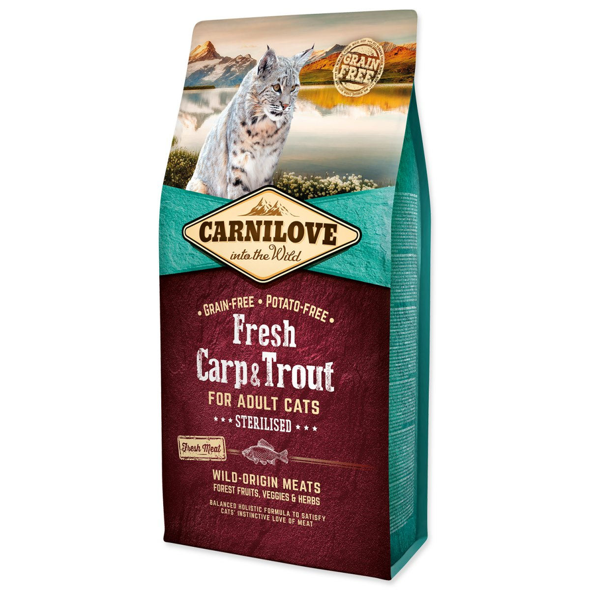 CARNILOVE Fresh Carp & Trout Sterilised for Adult cats (6kg)