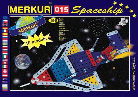 Merkur 015 Raketoplán, 195 dílů, 10 modelů