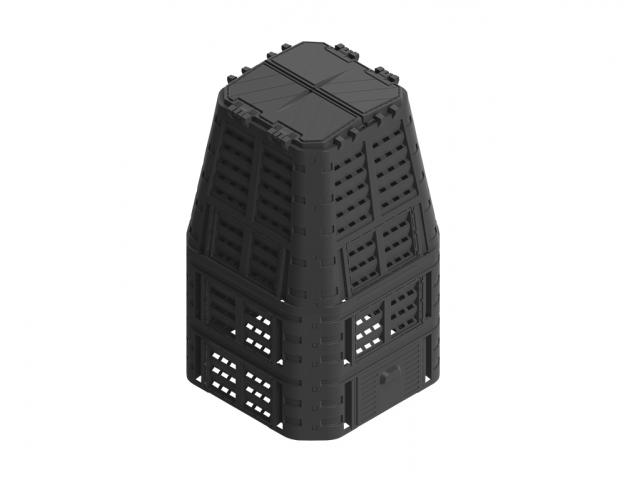 Komposter PROMO plastový černý 1000l
