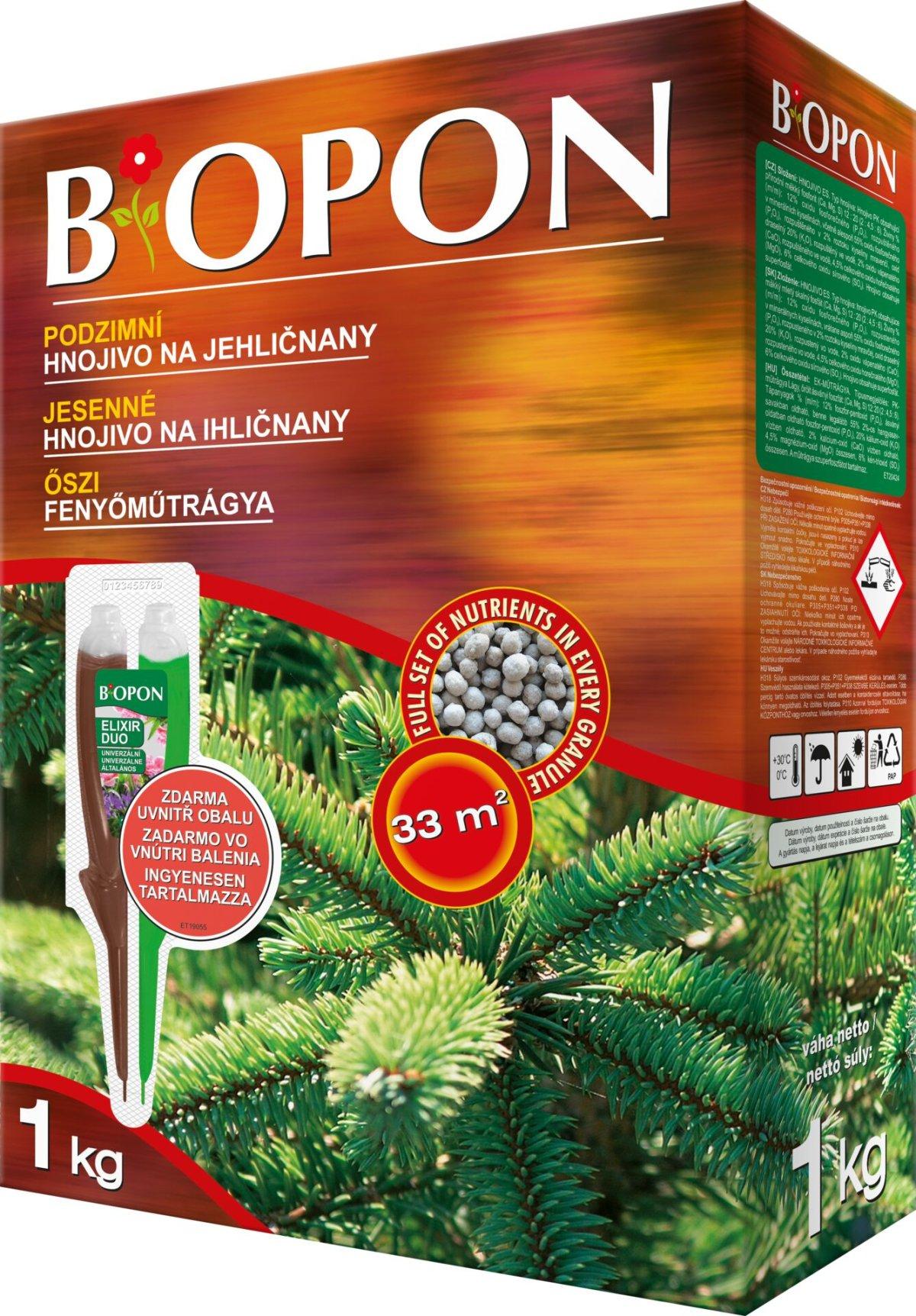 Hnojivo BOPON podzimní na jehličnany 1kg