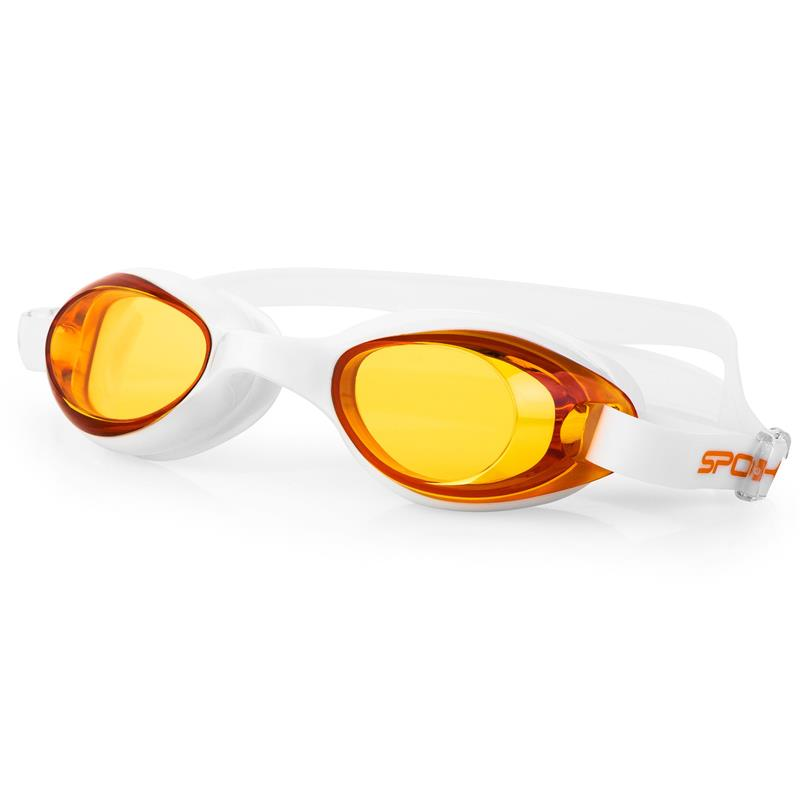 Spokey TINI Plavecké brýle, bílé, oranžová skla
