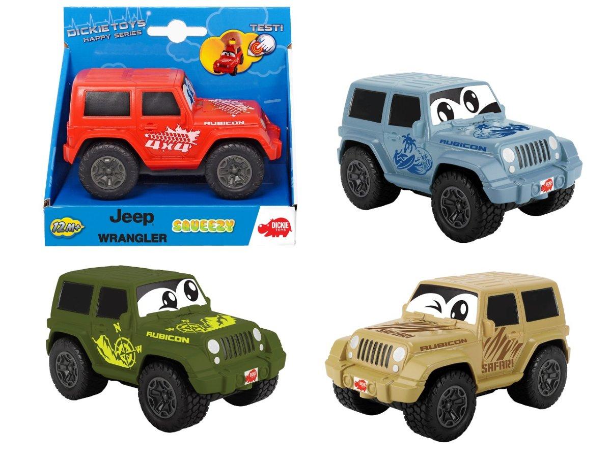Dickie Auto Happy Jeep Wrangler Squeezy 11 cm - mix variant či barev