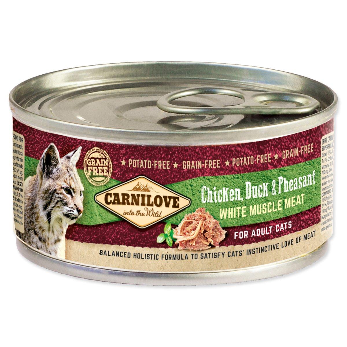 Konzerva CARNILOVE WMM Chicken, Duck & Pheasant for Adult Cats (100g)