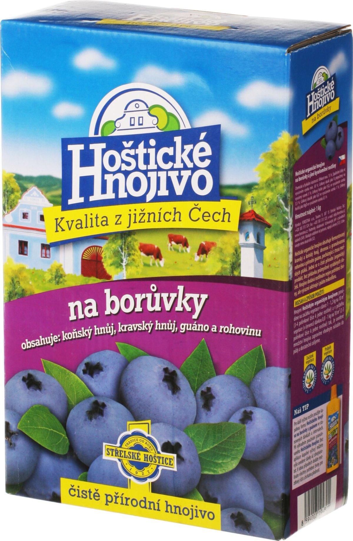 Hoštické - borůvky 1 kg s guánem