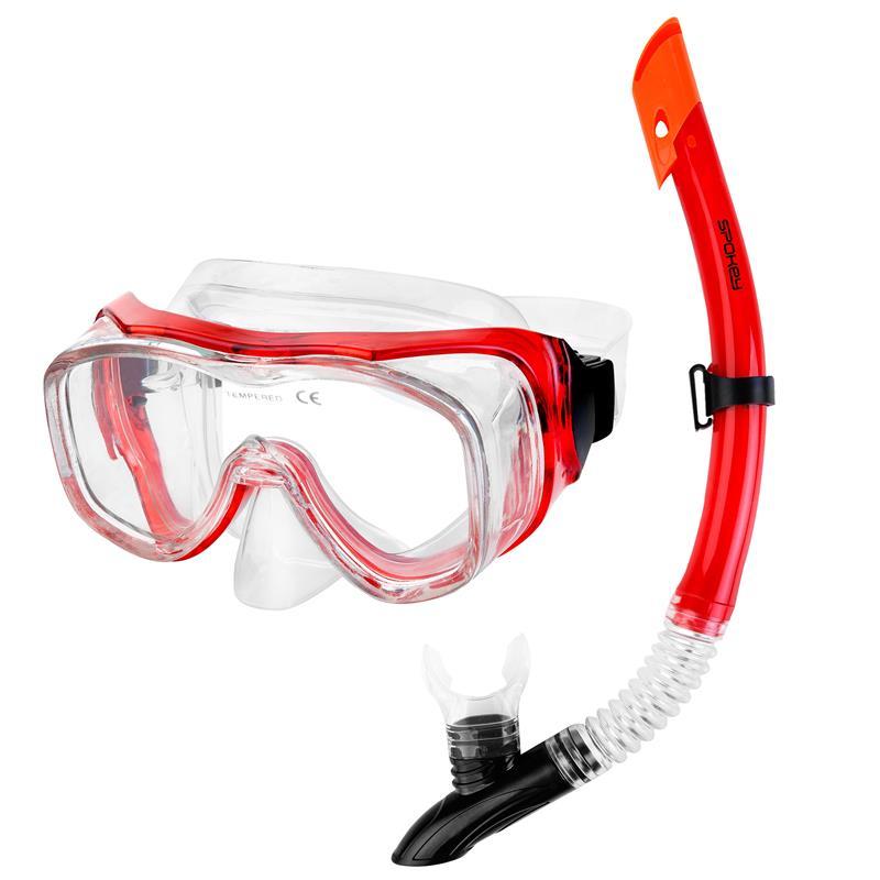 Spokey LUZON Panoramatická sada pro potápění maska+šnorchl
