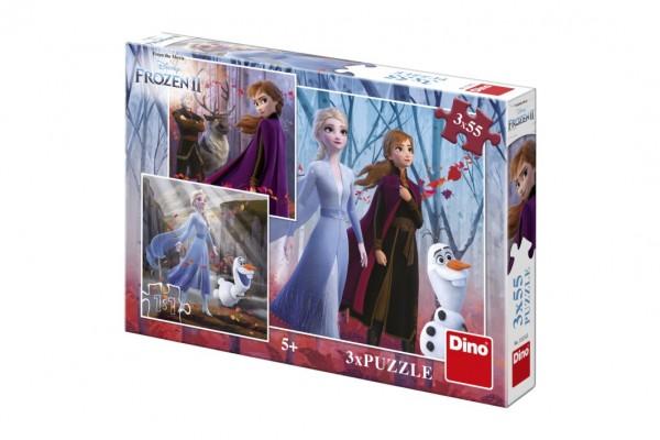Puzzle 3v1 Ledové království II/Frozen II 3x55dílků
