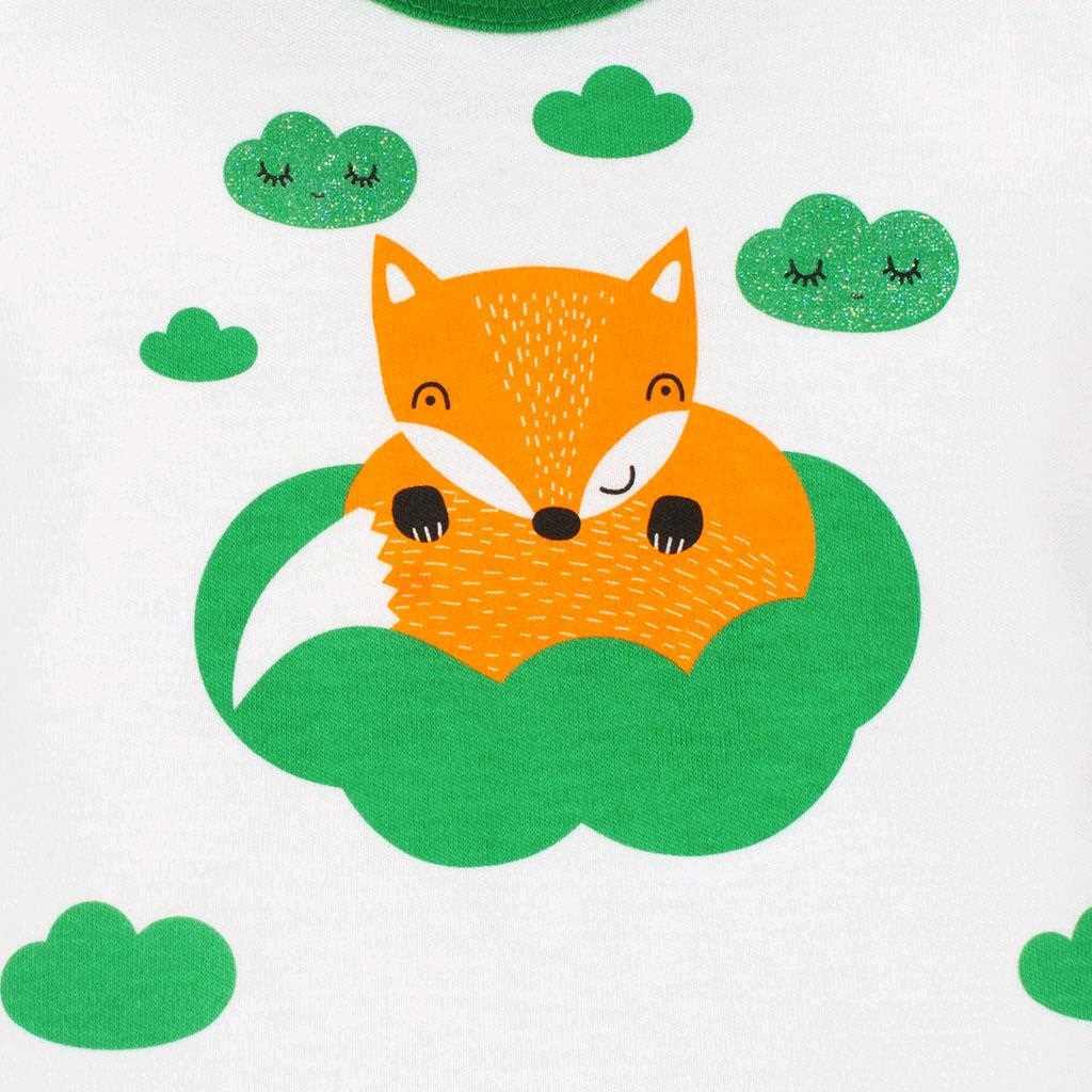 Kojenecká bavlněná košilka New Baby Liška zelená - 50