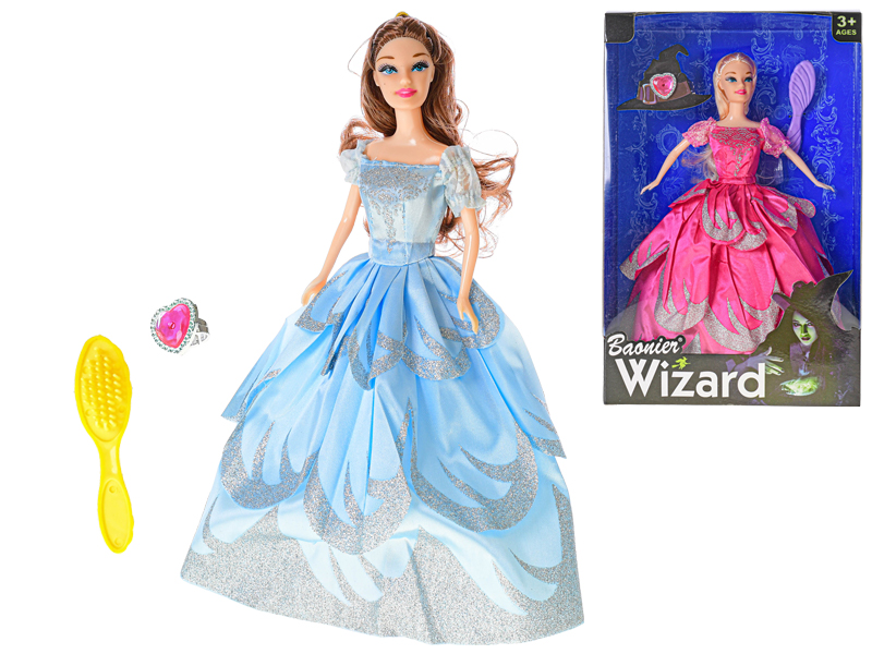 Panenka Wizard 30 cm kloubová s doplňky - mix barev