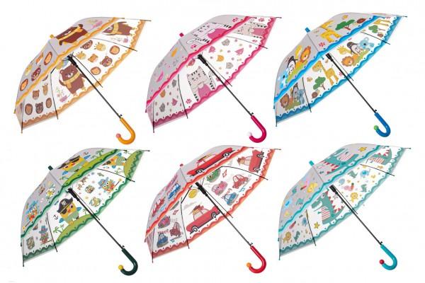Deštník 66cm vystřelovací - mix barev