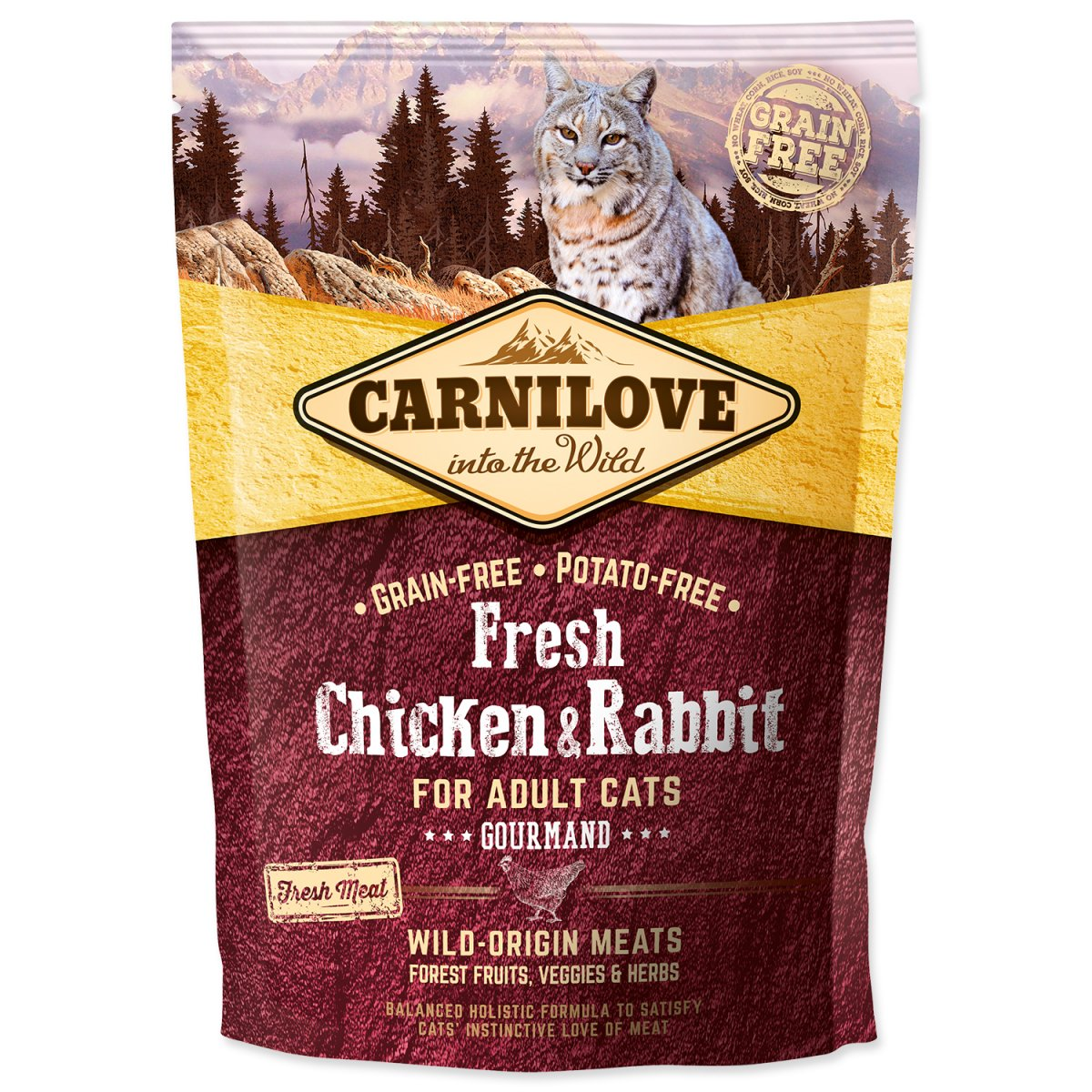 CARNILOVE Fresh Chicken & Rabbit Gourmand for Adult cats (400g)