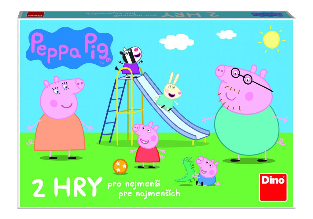 Dětská hra Prasátko Peppa: Pojď si hrát a skluzavky