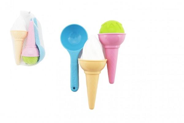 Formičky Bábovky na písek plast zmrzlina 17x10cm 12m+