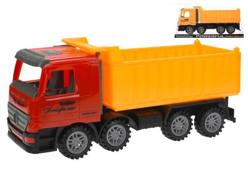 Auto nákladní sklápěčka 35 cm na setrvačník - mix barev