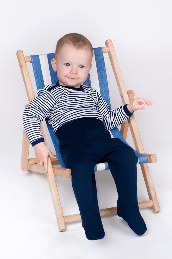 Kojenecká košilka New Baby Classic II s modrými pruhy - 56 (0-3m)
