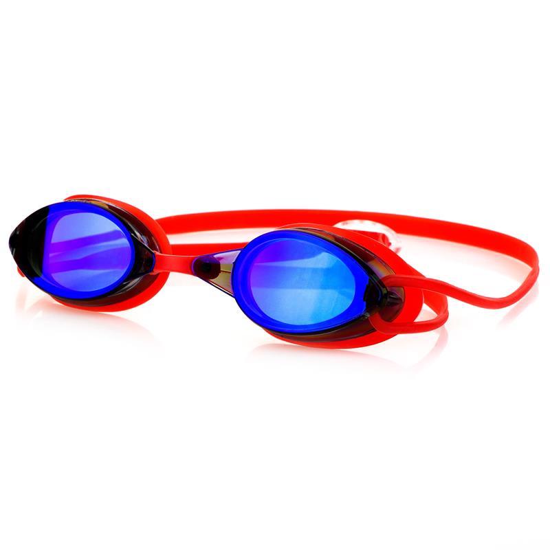 Spokey SPARKI Plavecké brýle, červené, zrcadlová skla