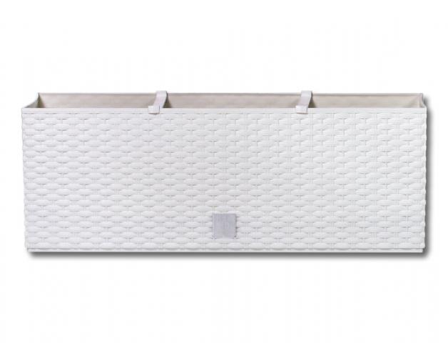 Truhlík samozavlažovací RATO CASE plastový bílý 60cm